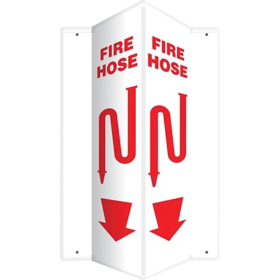 Accuform Signs® Fire Hose Projection Sign, Red/White, 24H x 4W, 1/Pack (PSP635)