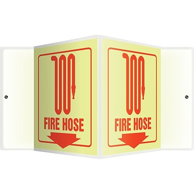 Accuform Signs® Fire Hose Projection Sign, Red, 6H x 5W, 1/Pack