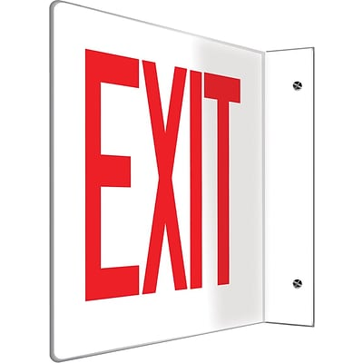 Accuform Signs® Exit Projection Sign, Red/White, 8H x 12W, 1/Pack (PSP221)