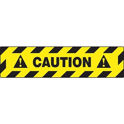 Accuform Signs® Slip-Gard™ CAUTION Border Floor Sign, Black/Yellow, 6H x 24W, 1/Pack