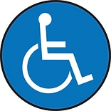 Accuform Signs® Slip-Gard™ Wheelchair Pictorial Round Floor Sign, White/Blue, 17Dia., 1/Pack