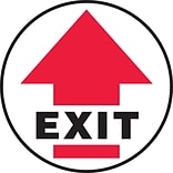 Accuform Signs® Slip-Gard™ EXIT Round Floor Sign, Black/Red/White, 17Dia., 1/Pack