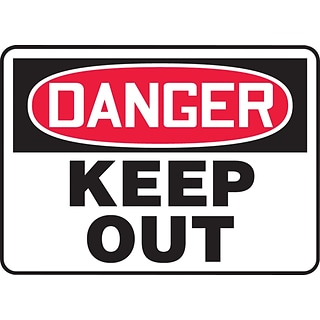 Accuform Signs® Safety Sign, Danger, 7 X 10, Adhesive Vinyl, Ea (MADM145VS)