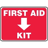 Accuform Signs® Safety Sign, First Aid Kit, 7 X 10, Adhesive Vinyl, Ea