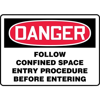 Accuform Signs® Safety Sign, Danger, 7 X 10, Adhesive Vinyl, Ea (MCSP012VS)