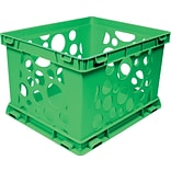 Storex Large Storage and Transport File Crate, Green (61556U01C)