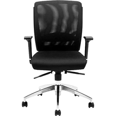 Offices To Go® Executive Chair, Mesh, Black, Seat: 19W x 19D, Back: 18 1/2W x 18 1/2H