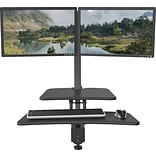Up-Rite Desk Mounted Sit/Stand Workstation, Dual Monitor Mounts