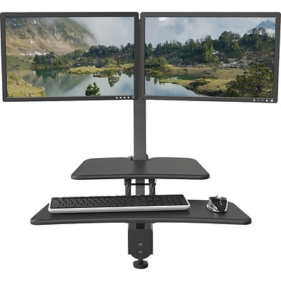Up Rite Desk Mounted Sit/Stand Workstation, Dual Monitor Mounts