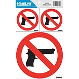 Concealed Carry No Guns Permitted Peel and Stick Sign