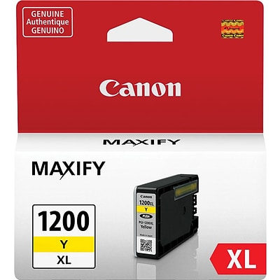 Canon PGI 1200XL Yellow Ink Cartridge, High Yield (9198B001)