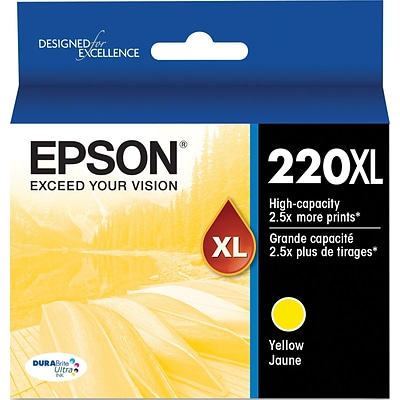 Epson DURABrite Ultra 220XL Yellow Ink Cartridge, (T220XL420-S), High Yield