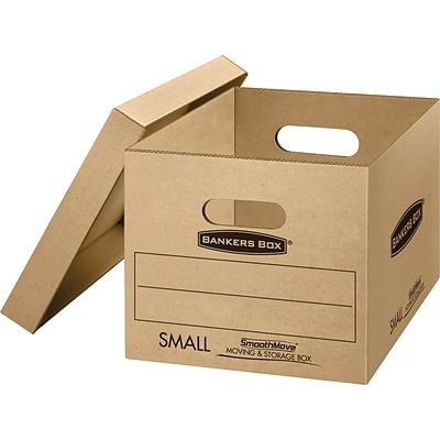 Bankers Box® SmoothMove™ Tape Free Classic Moving Boxes with Lift-Off Lid, Small (15x 12x 10), 5/Bd (7714212)
