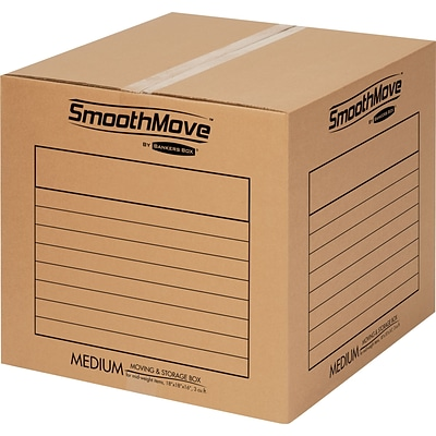 Bankers Box SmoothMove™ Basic Moving & Storage Boxes, 18-1/4 x 18-1/4 x 16-7/8, 20/Carton