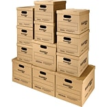 Assorted Sizes(L) x Assorted Sizes(W) x Assorted Sizes(H) Shipping Boxes, 32 ECT, Brown, 12 /Bundl