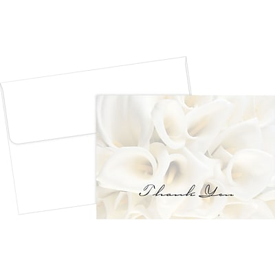 Great Papers White Calla Lilies Thank You Cards 50 Pack Quill Com