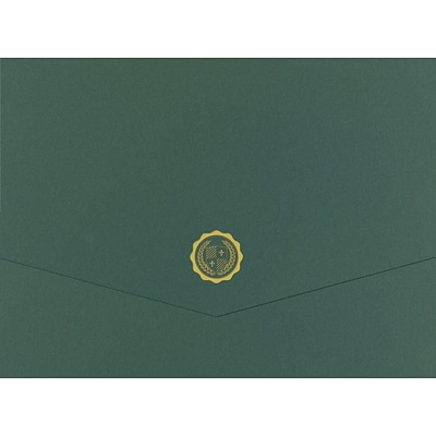Great Papers® Hunter Emblem Trifold Certificate Cover, 10/Pack