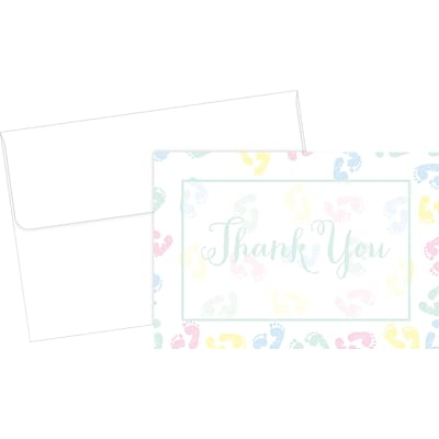 Great Papers® Baby Feet Thank You Cards, 24/Pack