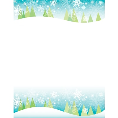 Great Papers® Snowy Trees Letterhead, 80/Pack