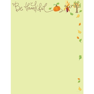 Great Papers® Be Thankful Letterhead; 80/Pack