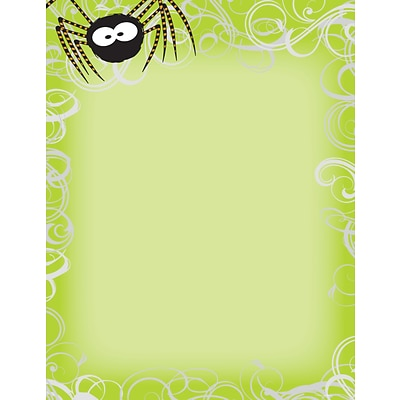 Great Papers® Green Spidey Swirls Letterhead, 80/Pack