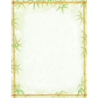 Great Papers® Bamboo Leaves Letterhead 80 count