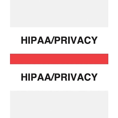 Medical Arts Press® Standard Preprinted Chart Divider Tabs, HIPAA/Privacy, Red