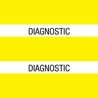 Medical Arts Press® Large Chart Divider Tabs, Diagnostic, Yellow