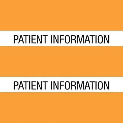 Medical Arts Press® Large Chart Divider Tabs, Patient Information, Orange