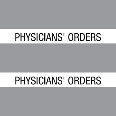 Medical Arts Press® Large Chart Divider Tabs; Physicians Orders, Gray