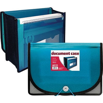 Better Office Products Poly Document Case; Letter Size w/3.5 Gussett, 12/Pk