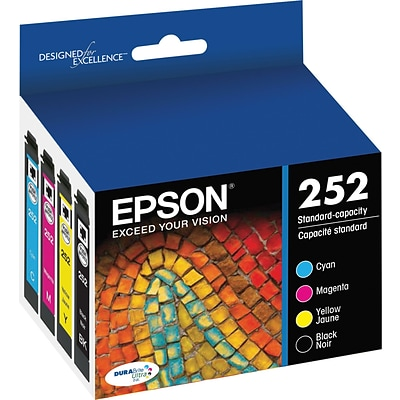 Epson DURABrite Ultra 252 Multi-Color  Ink Cartridge, 4/Pack