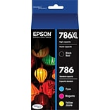 Epson® DURABrite Ultra 786XL/786 Ink Cartridges, High-Yield Black and Standard Color C/M/Y, 4/Pack (