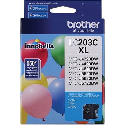 Brother Genuine LC203C Cyan High Yield Original Ink Cartridge