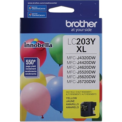 Brother Genuine LC203Y Yellow High Yield Original Ink Cartridge