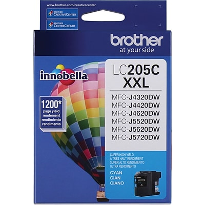 Brother LC205 Cyan Extra High Yield Ink Cartridge