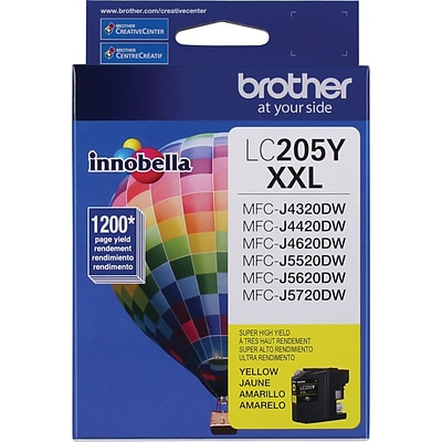 Brother Genuine LC205Y Yellow Super High Yield Original Ink Cartridge
