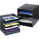 Save 10% When You Buy 3 Safco® Black Desk Accessories