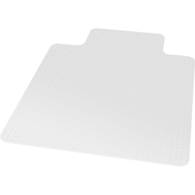 Quill Brand® Economy Carpet Chair Mat; 45x53, Wide Lip