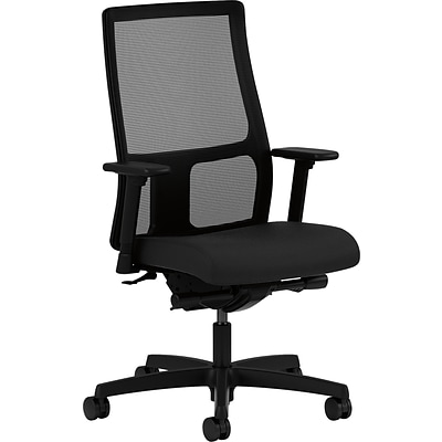 HON Ignition Mid-Back Task Chair, Arms, Black