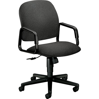HON Solutions - 4000 Series Executive/Office Chair, Fabric, Gray, Seat: 20W x 17 3/4D, Back: 20 1/2W x 23/4H