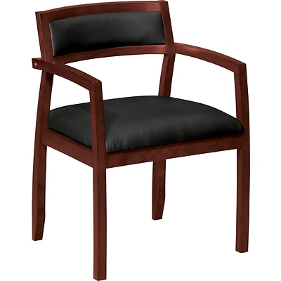 basyx® by HON VL852 Series Leather Guest Chair; Mahogany