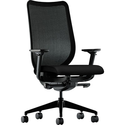 HON Mesh Back Task Chair, Adjustable Arms, Black