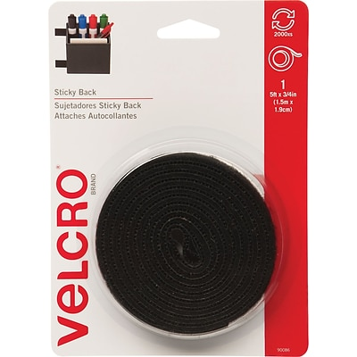 VELCRO(R) brand STICKY BACK(R) Tape 3/4X5, Black