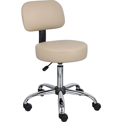 Boss® B240 Series Medical Stool; With Back, Beige