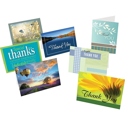 Holiday Expressions® Greeting Card Assortment Pack; Thank You, Personalized