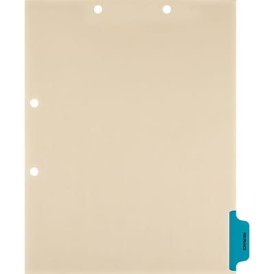 Medical Arts Press® Position 6 Colored Side-Tab Chart Dividers, Insurance, Med. Blue