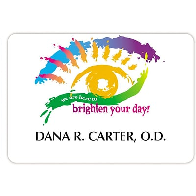 Custom Printed Medical Arts Press® Full-Color Eye Care Name Badges; Brighten Your Day