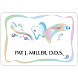 Custom Printed Medical Arts Press® Full-Color Dental Name Badges; Large, Graphic Tooth/Toothpaste
