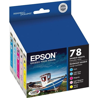 EPSON® 78 T078920 Claria Hi-Definition Ink Cartridges, Color Multi-pack (5 cart per pack)